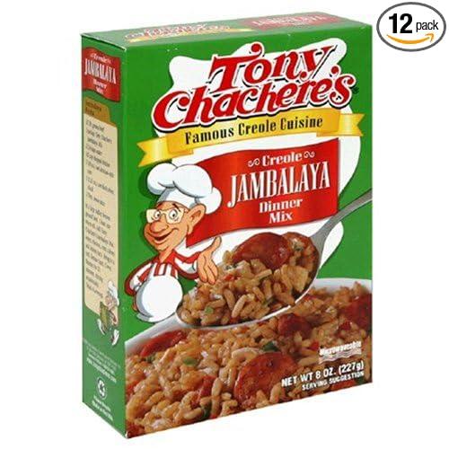 Amazon.com : Tony Chacheres Jambalaya Mix, 8-Ounce Boxes (Pack of 12) : Prepared Jambalaya : Grocery & Gourmet Food