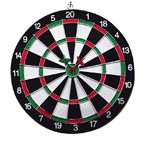 Forgiven-kids toys DIY House Kit Double-Sided Flocked Dart Board Set Includes 6 Darts 15 Inch Diameter Dartboard DIY Gift for Friends,Lovers and Families (Color, Size : 36cm) ()