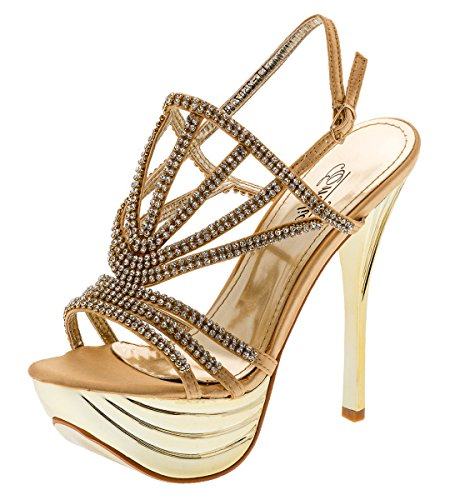 Shayenne - Plataforma Mujer dorado