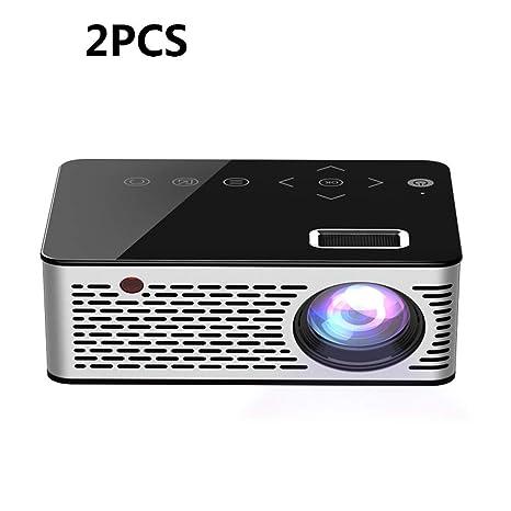 ZUKN Mini Micro LED Proyector Altavoz Incorporado HD 1080P Soporte ...