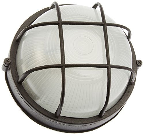 Artcraft Lighting Small Round Wall Sconce Light, Black - Outdoor Wall Clear Dome