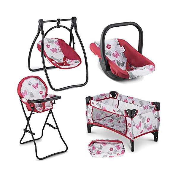 51kJ%2BDPXBPL. SS600  - Litti Pritti 4 Piece Set Baby Doll Accessories - Includes Baby Doll Swing, Baby Doll High Chair, Doll Pack N Play, Baby…