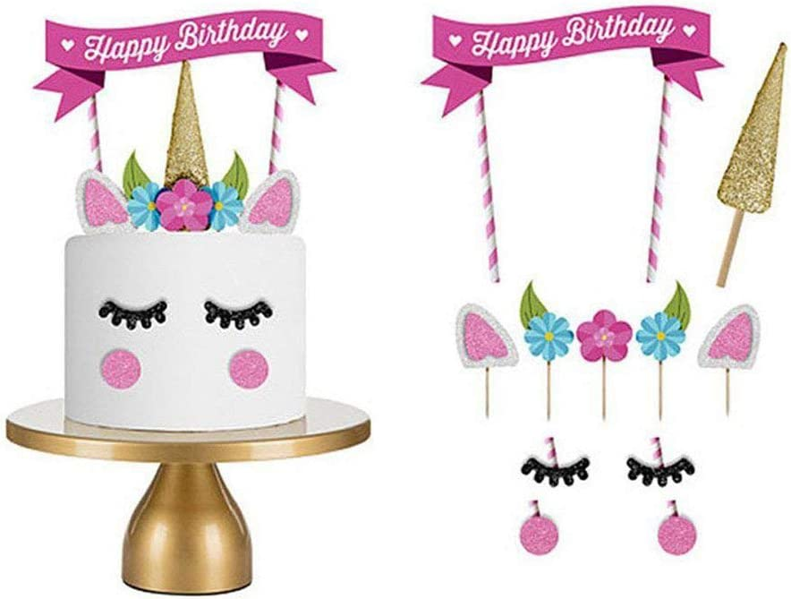 Peachy Love77 Unicorn Cake Toppers Birthday Cake Topper Set Of 11 Decor Funny Birthday Cards Online Fluifree Goldxyz