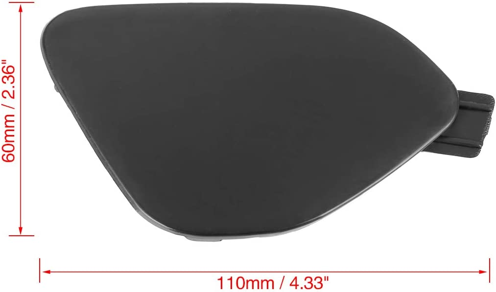 X AUTOHAUX Car Front Bumper Tow Eye Cover Cap Lid for Volvo S60 2014-2016 39820294 Black