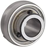 Browning VS-110 Ball Bearing Insert, Setscrew Lock, Regreasable, Contact Seal, Steel, 5/8'' Bore, 40mm OD, 13 mm Outer Ring Width