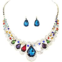 Clearance Deals Necklace+Earrings Jewelry Set Womens Mixed Style Bohemia Color Bib Chain Necklace Earrings Jewelry by ZYooh
