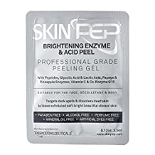 SkinPep Brightening Enzyme & Acid Peel 3.5ml - Beautiful and Vibrant Skin + Pineapple and Papaya Enzymes + Peptides + Glycolic Acid And Lactic Acid + Vitamin C - Professional Grade Peeling Gel by SkinPep