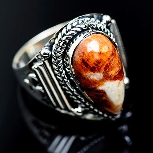 Ana Silver Co Peanut Wood Jasper Ring Size 9 (925 Sterling Silver) - Handmade Jewelry, Bohemian, Vintage RING962249 (Ana Silver Co Jasper Ring)