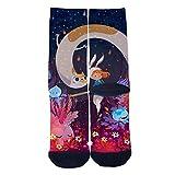 Long Cat and Rabbit Girl Tube Socks Cool Street Socks Hip Hop Street Professional Skateboard Sports Men Women Socks Black