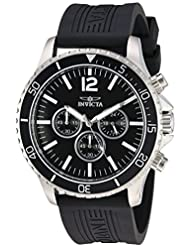 Invicta Mens Pro Diver Quartz Stainless Steel and Polyurethane Casual Watch, Color:Black (Model: 24393)