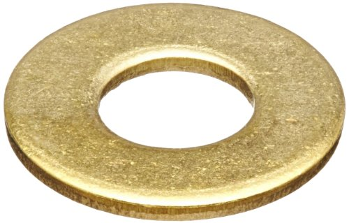 Brass Flat Washer, Plain Finish, No. 4 Screw Size, 0.12