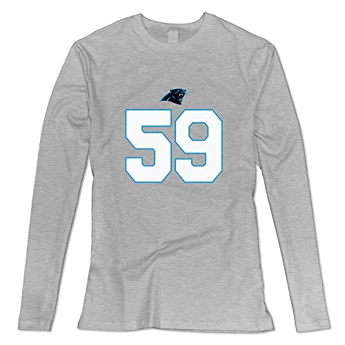 Women's Carolina Panthers Luke Kuechly Logo Long Sleeve T-shirt