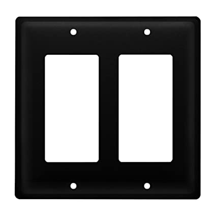 Modern Light Switches >> Iron Plain Double Modern Switch Cover Heavy Duty Metal Light