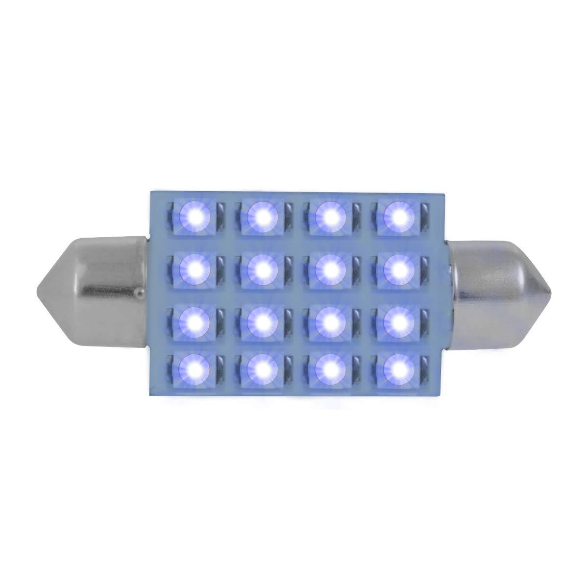 211-2 Blue 16-LED Festoon Dome, 12V GG Grand General 76101 Light Bulb