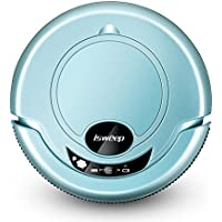 Robotic Vacuum Cleaner, Powerful Suction Robot Cleaner with Drop-Sensing System and HEPA Filter for Low-pile Carpet and Hard Floor , Green