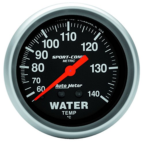 Auto Meter 3431-M Sport-Comp Mechanical Metric Water Temperature Gauge ()