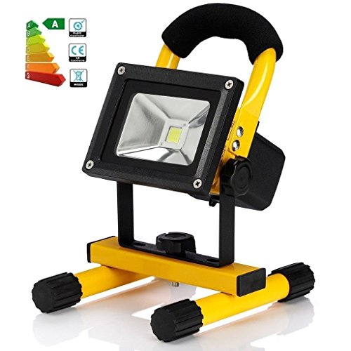 earlybird-fly 50W IP65 Portable Cordless Rechargeable LED Flood Spot Work Light Lamps Outdoor Camping, Working, Fishing. Waterproof, Security Lights by earlybird-fly