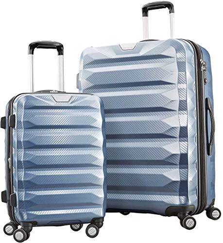 Samsonite Flylite DLX 2 Piece Hardside Spinner Set (Blue)