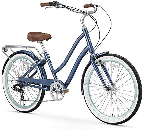 sixthreezero EVRYjourney Women s Step-Though Hybrid Cruiser Bicycle eBike, 24 26 Renewed