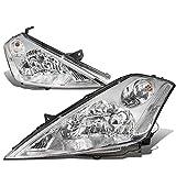 nissan murano halo headlights - Nissan Murano Z50 1st Gen Pair of Chrome Housing Clear Corner Headlight Lamp