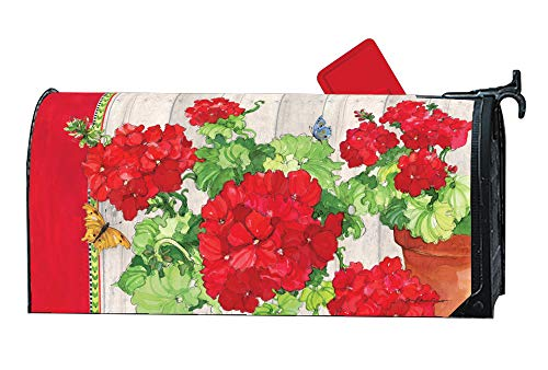 MailWraps Studio M Ladies in Red Decorative Spring Summer Floral, The Original Magnetic Mailbox Cover, Made in USA, Superior Weather Durability, Standard Size fits 6.5W x 19L Inch Mailbox