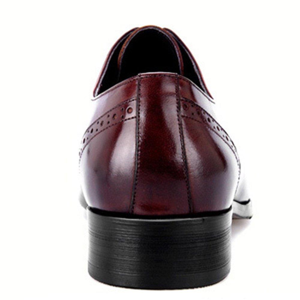 RSHENG Qualität Herren Derby Hohlen ROT Retro Bullock Geschnitzte Schuhe ROT Hohlen 45aaeb