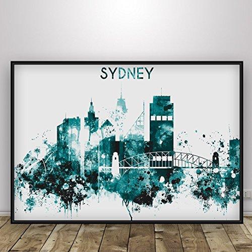 sydney-sydney-city-print-watercolor-sydney-landmarks-sydney-skyline-sydney-painting-sydney-poster-sy