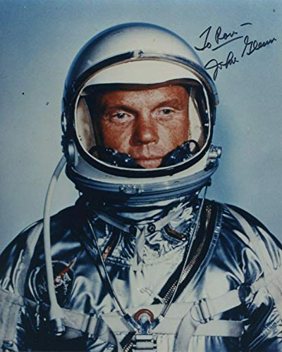 Astronaut John Glenn Hand Signed Autographed Color Photo