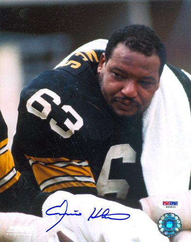 (Ernie Holmes Signed Autographed Pittsburgh Steelers Close-Up 8x10 Photo PSA/DNA COA )