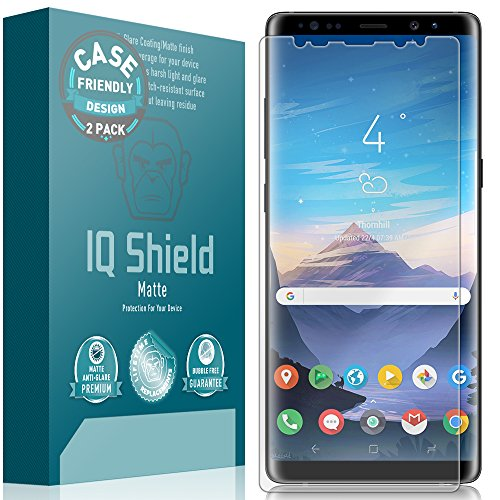Price comparison product image Galaxy Note 8 Screen Protector (Case Friendly)(2-Pack), IQ Shield Matte Full Coverage Anti-Glare Screen Protector for Galaxy Note 8 Bubble-Free Film