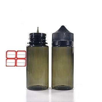 5 pcs de recambios de zumo Eliquid de 30 ml con embudo de etiqueta, plástico