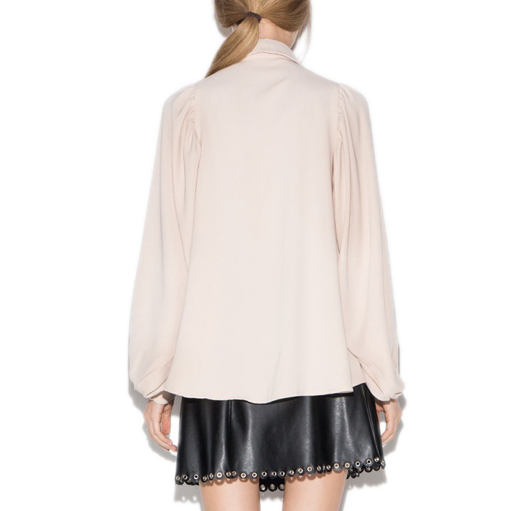 VOGUE CODE Vintage Style Fashion Shirt with Balloon Sleeve