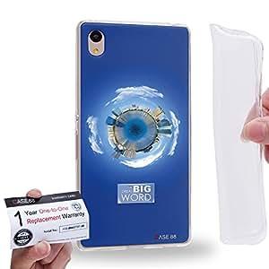 Case88 [Sony Xperia Z3+ / Z4] Gel TPU Phone case & Warranty Card - Art Fashion Sapphire Humor Inspiration 1573