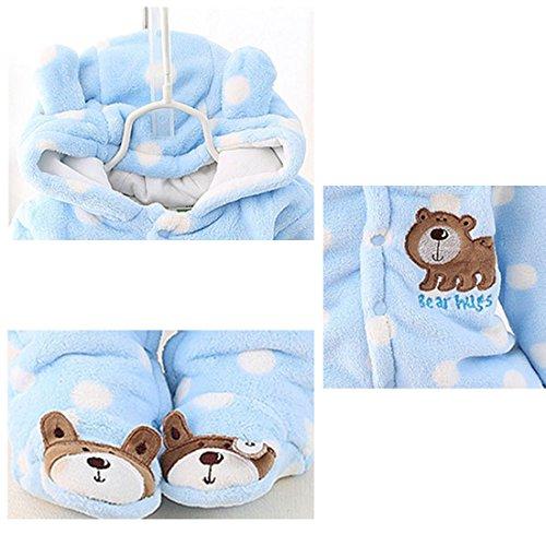Gaorui Newborn Baby Jumpsuit Outfit Hoody Coat Winter Infant Rompers Toddler Clothing Bodysuit