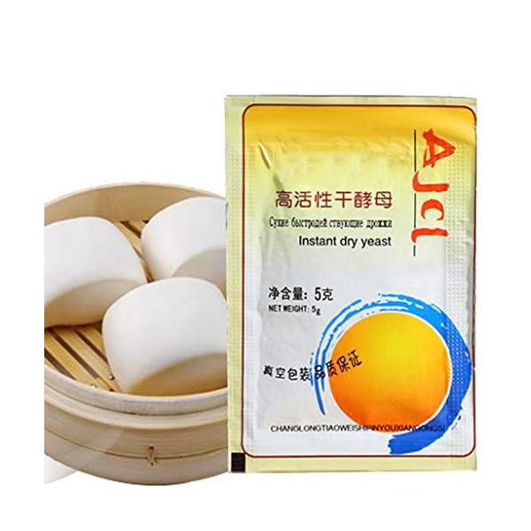 yuanmaoao, Lievito secco attivo, alta tolleranza del glucosio, per la produzione di pane, 10 x 5 g 4 spesavip