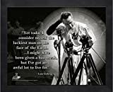Lou Gehrig New York Yankees MLB Pro Quotes Photo (Size: 12'' x 15'') Framed