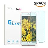 EyeO2 for iPhone 7 Plus Screen Protector Glass Premium Tempered Glass Screen HD Protective Protector Accessories Anti-scratch and Anti-fingerprint for iPhone 7 Plus(2 Pack)