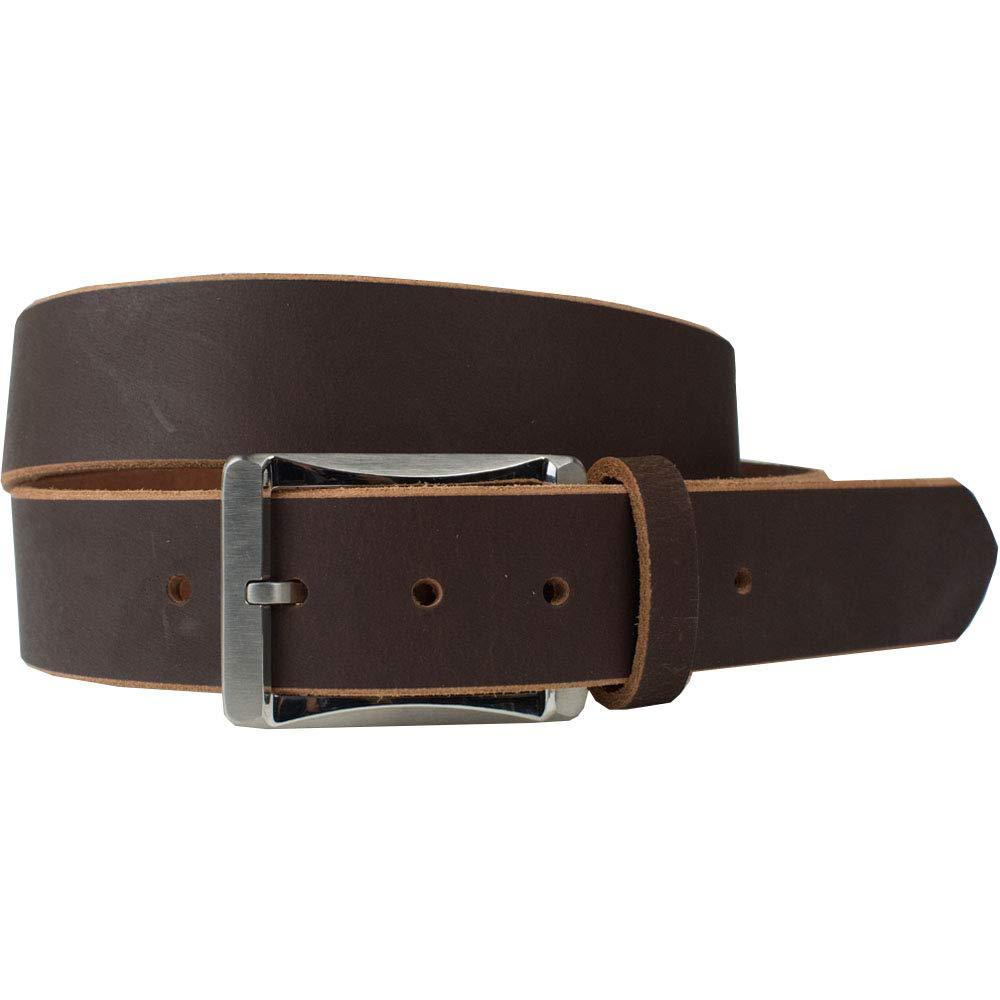 Genuine Full Grain Leather Belt with Nickel Free Titanium Buckle Titanium Work Belt Nickel Smart