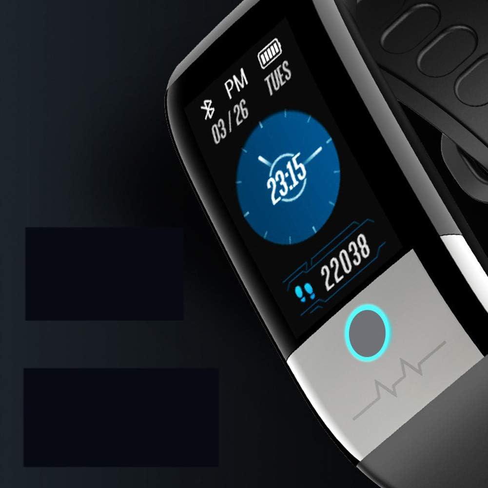 Braccialetto sportivo impermeabile IP68, con schermo a colori, con contapassi impermeabile, adatto a tutti i tipi di persone Nome stile misura Nero Blu
