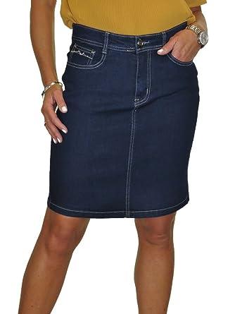 ICE Jeans Denim Mini Falda, con elástico, Indigo Azul: Amazon.es ...