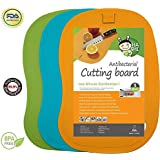 Antibacterial Cutting Board Set - 100% 1 Minute Microwave Antibacterial Sterilization - Flexible & Dishwasher Safe Chopping Mats - Set of 3 - by Hashi