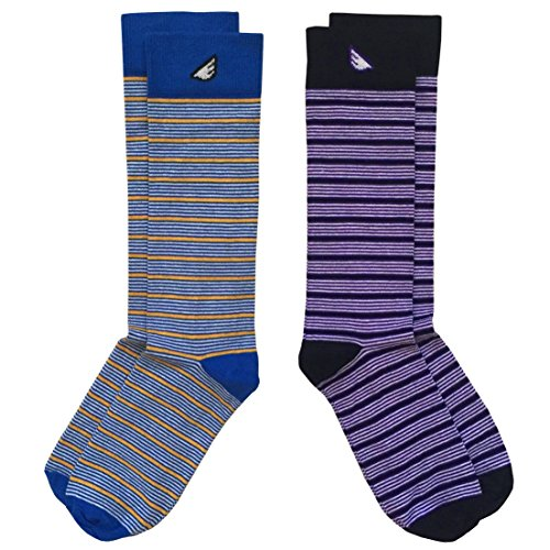 Colorful Fun Unique Dapper USA-made Dress Socks for Men - Thin Stripes - Cheap Fancy Dress Ideas For Men