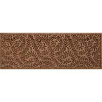 Bungalow Flooring Waterhog Indoor/Outdoor Runner Rug, 22 x 60, Skid Resistant, Easy to Clean, Catches Water and Debris, Boxwood Collection, Dark Brown
