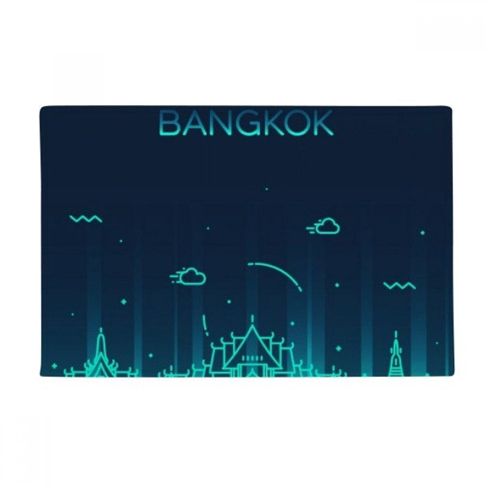 Thai Customs Culture Shadow Bangkok Anti-slip Floor Mat Carpet Bathroom Living Room Kitchen Door 16''x30''Gift