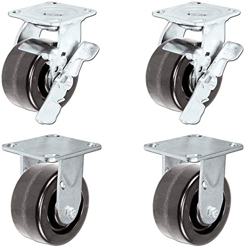 Caster Barn - Heavy Duty Toolbox Caster Set with