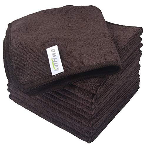 - Microfiber Dish Cloths Ultra Absorbent Kitchen Dish Rags for Washing Dishes Fast Drying Cleaning Cloth Brown 10-Pack 12InchX12Inch