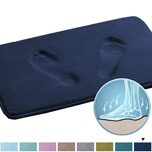 Original Memory Foam Bath Mat Super-Absorbent Bath Rug for Bathroom Soft Flannel Bath Mat with Non-Slip Backing Quickly Drying Foot Massage Bath Rug for Kids Bathroom (20