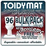ToidyMat - 96 Disposable Contour Mats for Bathrooms - Incontinence Pads (BULK PACK)