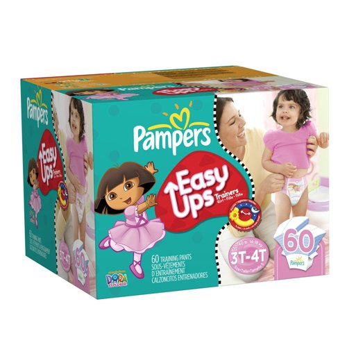 Price comparison product image Pampers Easy Ups Girls Size 3T-4T Diapers Big Pack 60 Count