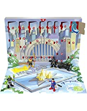 Fisher-Price Imaginext DC Super Friends Advent Calendar, 24 Mystery Toys Including Figures, Accessories and a Vehicle for Preschool Kids